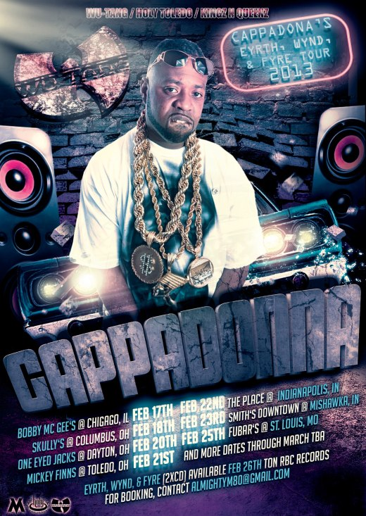 Cappadonna is Coming To Ohio