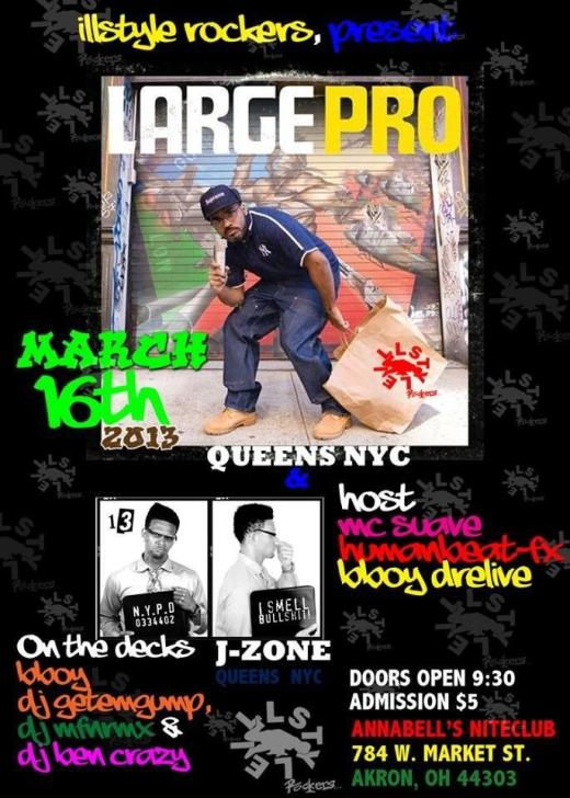Large Pro. + J-Zone Spinning in Akron 3/16