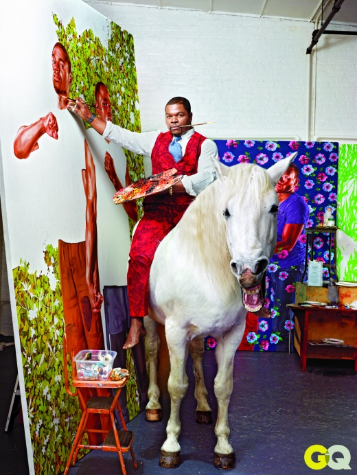 PORTRAIT PAINTER KEHINDE WILEY SHOWS GQ HOW HE CREATES HIS MASTERPIECES