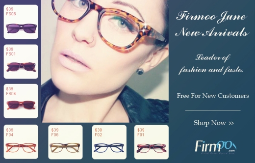 Hit your summer with Firmoo Free Glasses in June