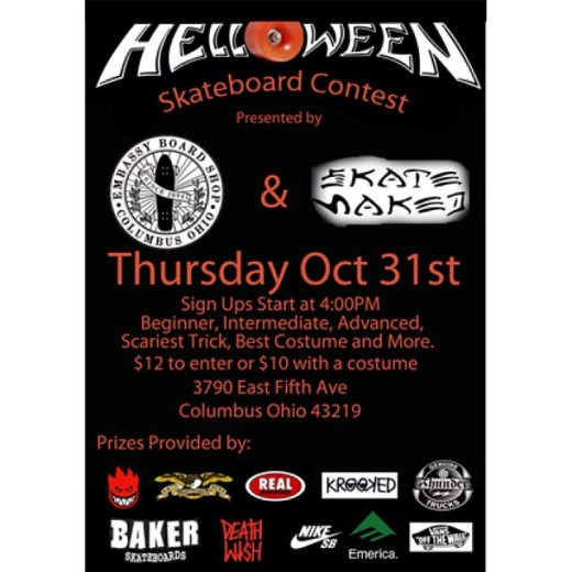 Embassy & Skate Naked Helloween Skate Contest Oct 31st